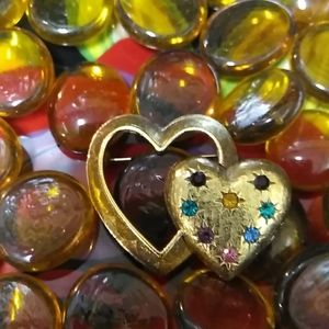 EMMONS Gold Filled Double Hearts